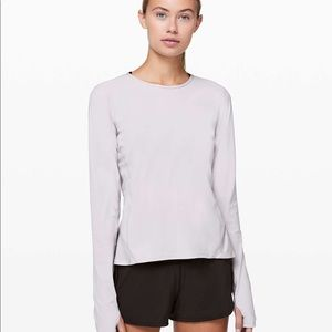 lululemon Look Ahead Run Long Sleeve - Iced Iris